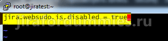 Jira SD websudo disabled